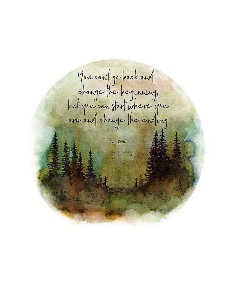 Cs lewis quote cs lewis print pine tree print tree print