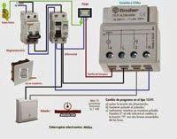Esquemas eléctricos: telerruptor 4hilos caja rejistro