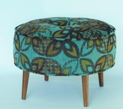 One Of A Kind Shop There S Something About The Worn Colourful Retro Pattern And The Tapered Legs That Bring This Stool Su Retro Home Decor Ottoman Furniture