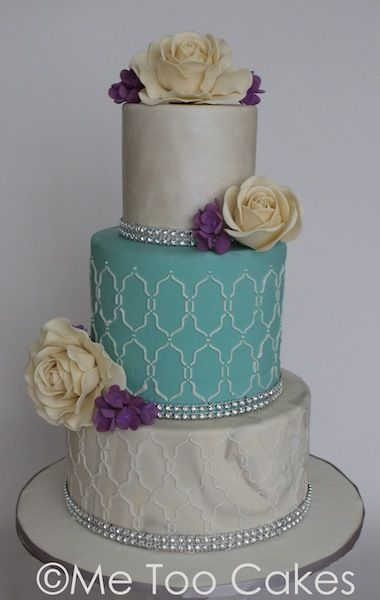 Cake Moroccan Tile Marble Wedding