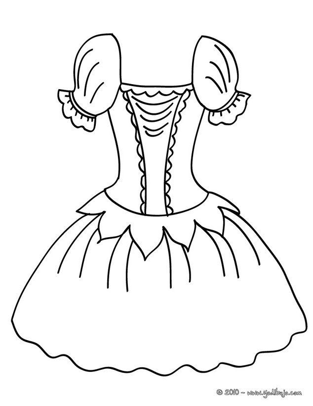 Dibujo para colorear : un tutu de ballet   moda   Pinterest   Ballet ...