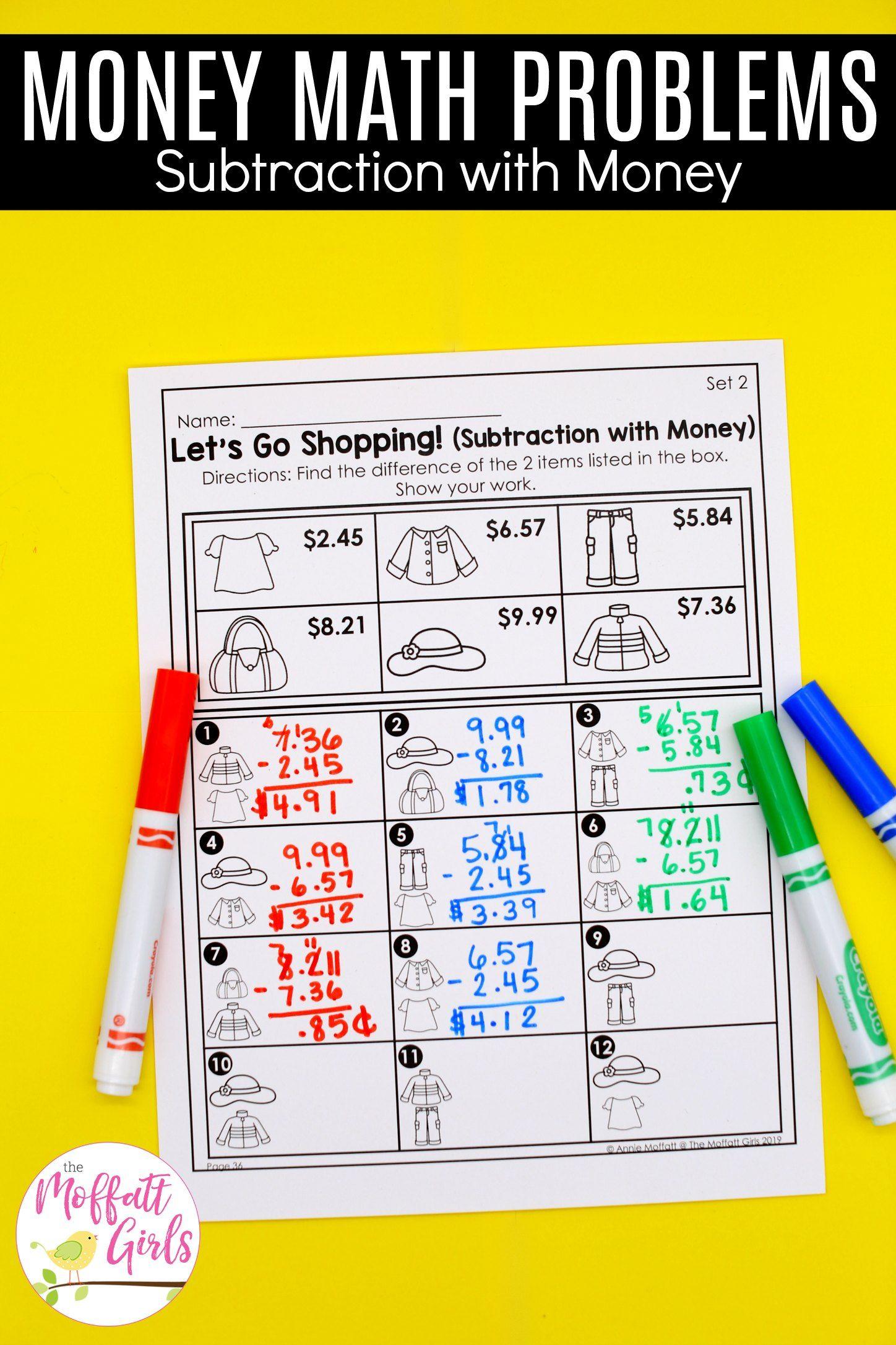 3rd Grade Math Made Fun Curriculum Bundle 3rd Grade Math Math Money Math Addition within lesson plan for