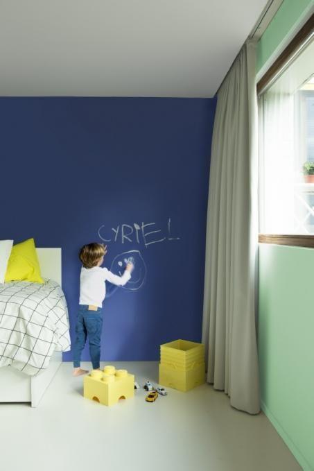 Schilder je slaapkamer blauw groen - Slaapkamer Jozefien   Pinterest ...