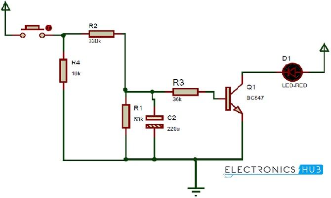 how up down fading led lights circuit works? electronics simpleup down fading led lights circuit diagram