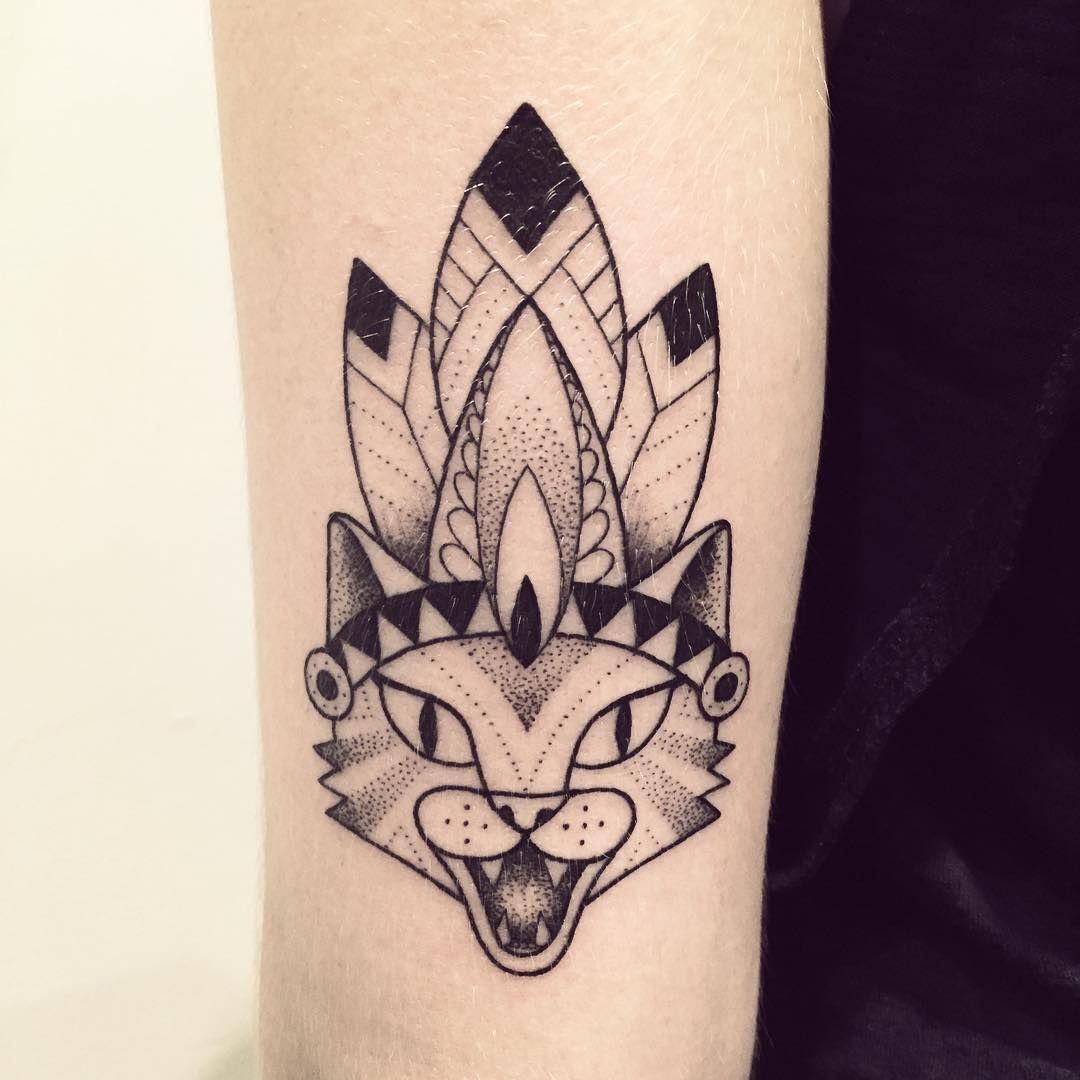 Merci Sister ❤ @mariannechab #cat #indien #tattoo #violette ... - Leichte Tattoos