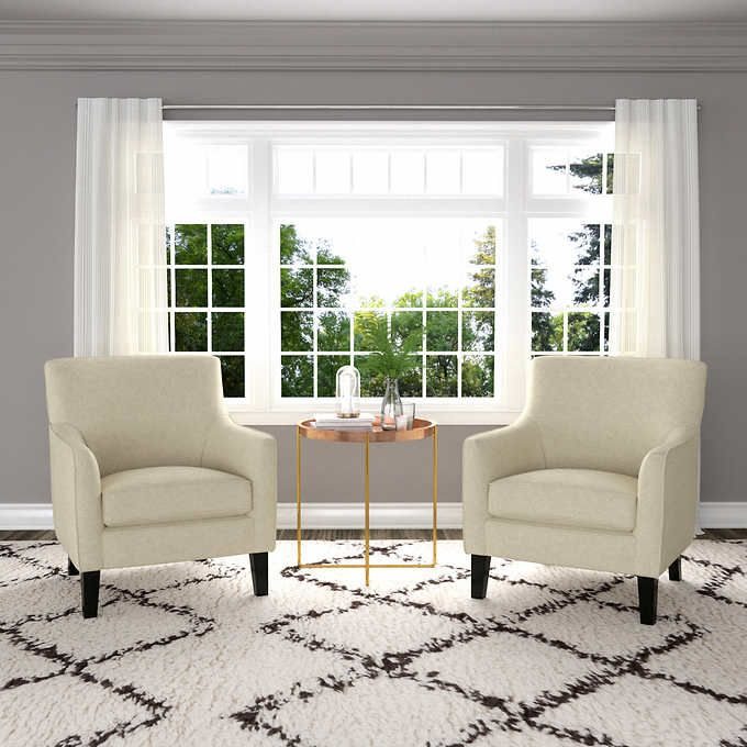 Yuri Oatmeal Fabric Accent Chair 2 Pack Blue Accent Chairs Accent Chairs Accent Chairs For Living Room