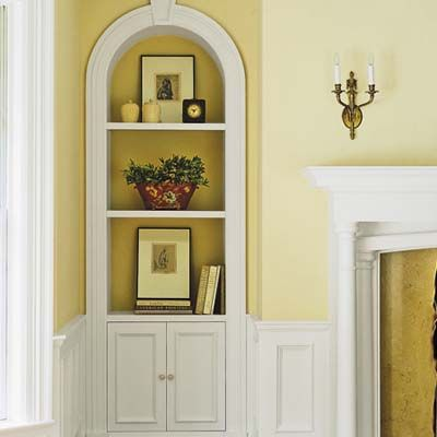 Built in storage ideas entertainment create and arch for Dining room niche ideas