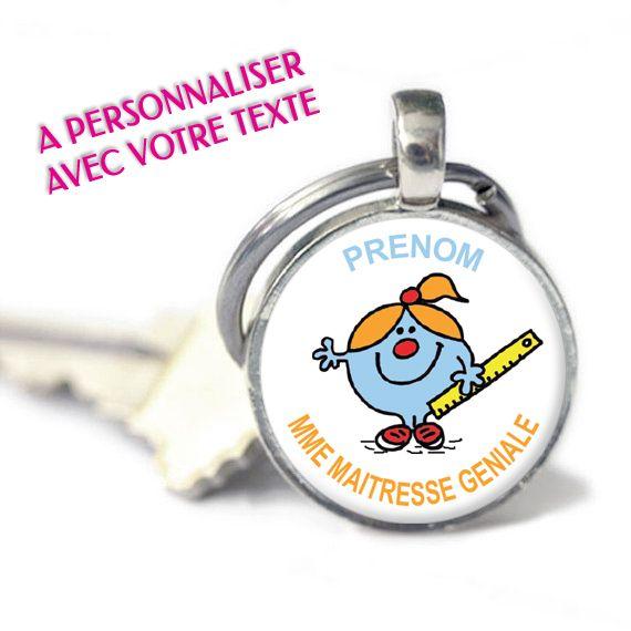 Cadeau pour maitresse - Porte-clés Madame Maitresse Géniale personnalisable  avec vos textes PRIX   6,90€ 483f5aec307