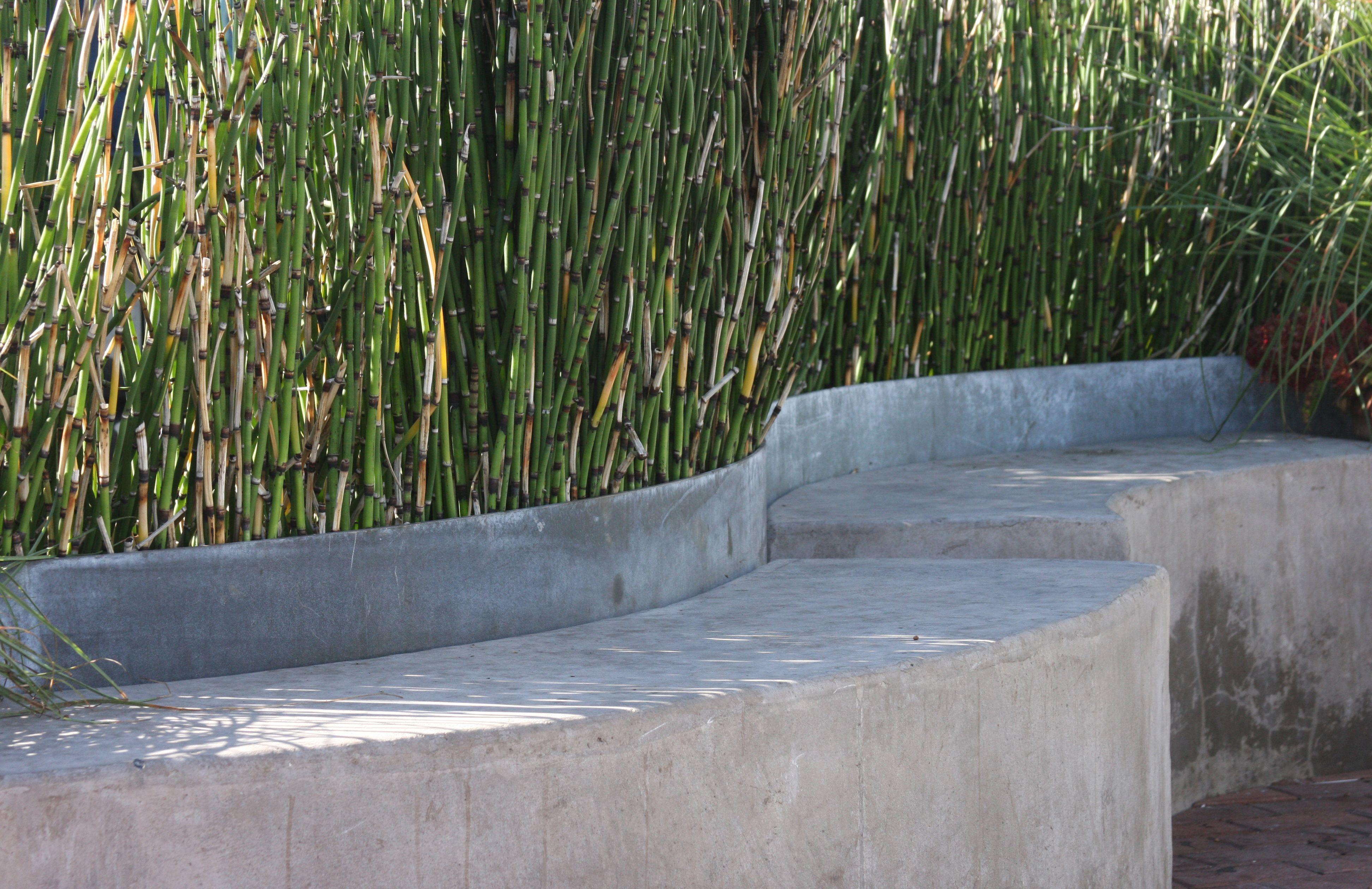 Custom Concrete Benches Galvanized Metal Planter W