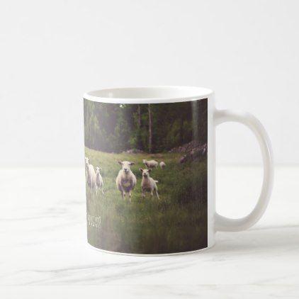 #photo - #Punny Sheep with Attitude photo country pasture Coffee Mug