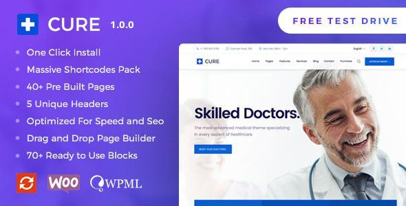 Download Medical Cure v1.0.6 - Health and Medical WordPress Theme ...