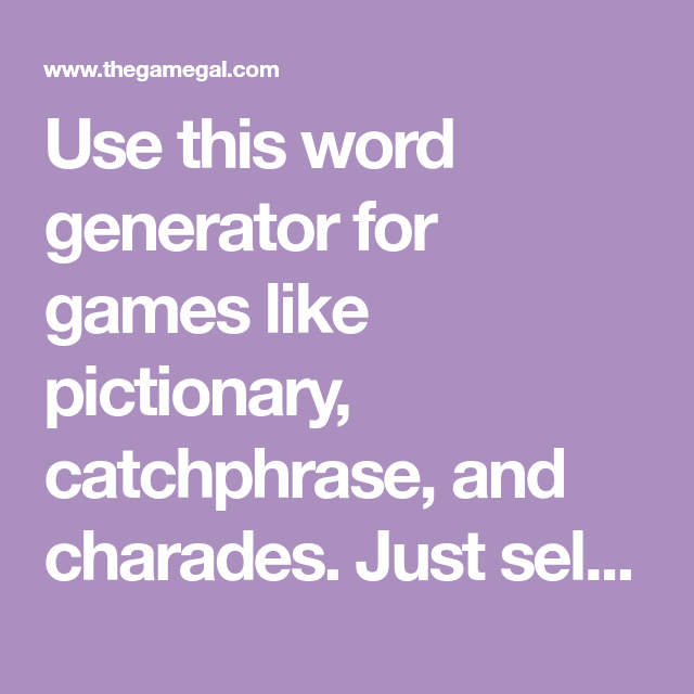 use this word generator