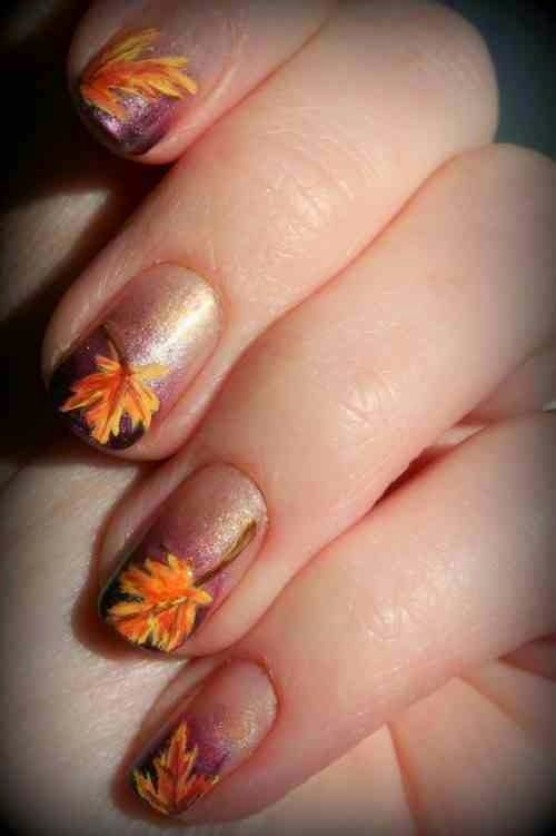 Examples Autumn Leaves Nail Imgaa67d6600347a42c3 Nail Art