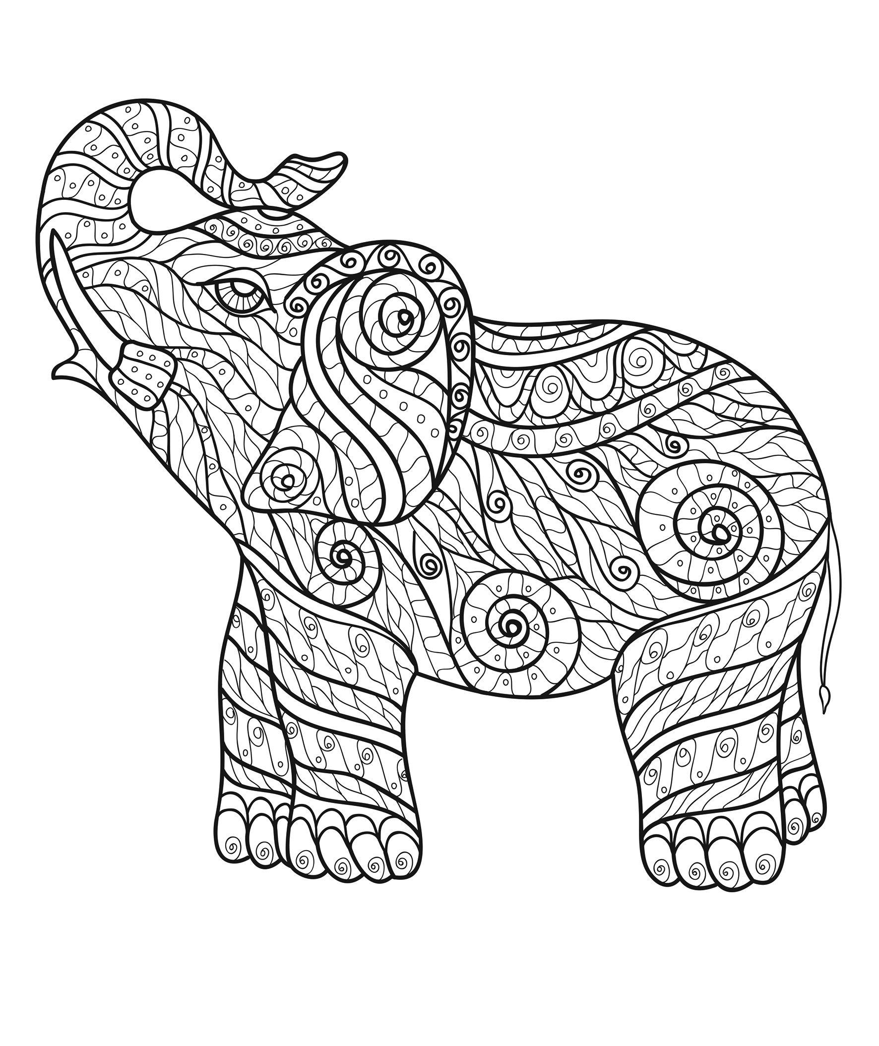 Szeretlek Magyarorszag Elephant Coloring Page Animal Coloring