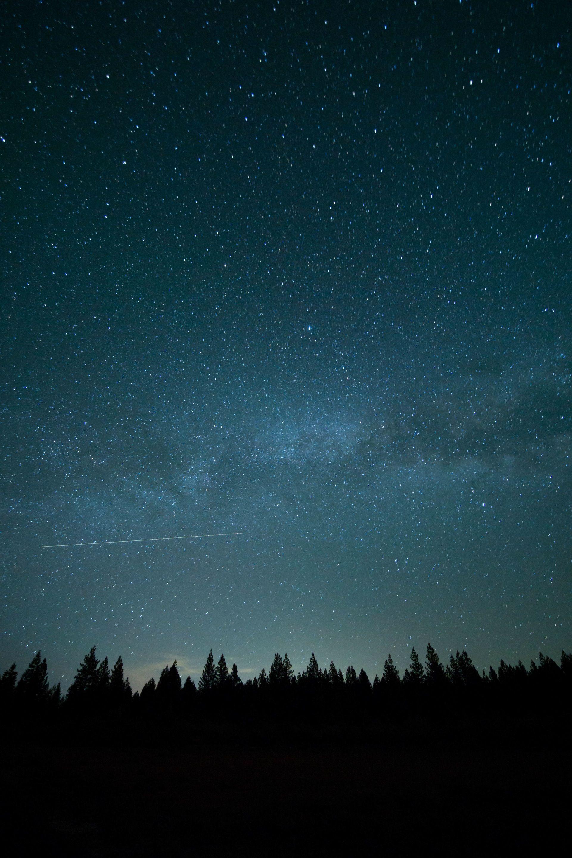 Fondo de estrellas en la noche