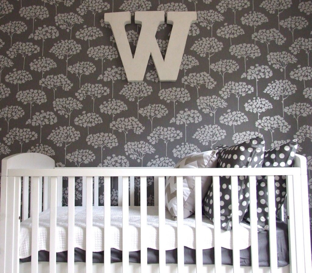 Empire Lane Design Nursery - not in love with the wallpaper but the overall look and colors