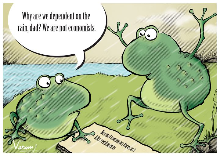 Cartoon on Indian economists by Varun Vashishtha