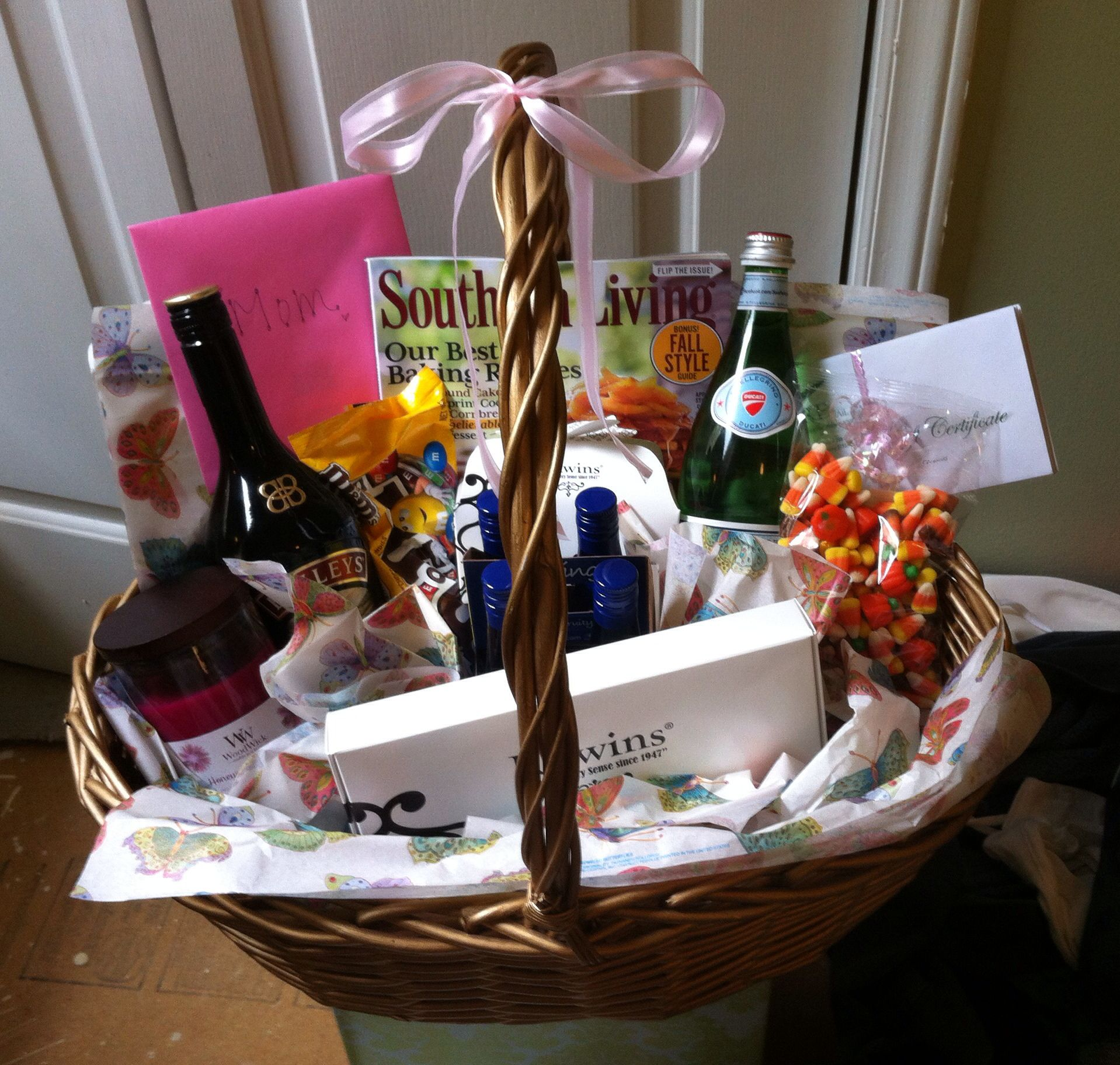 BIRTHDAY BASKET! I put together this super cute gift