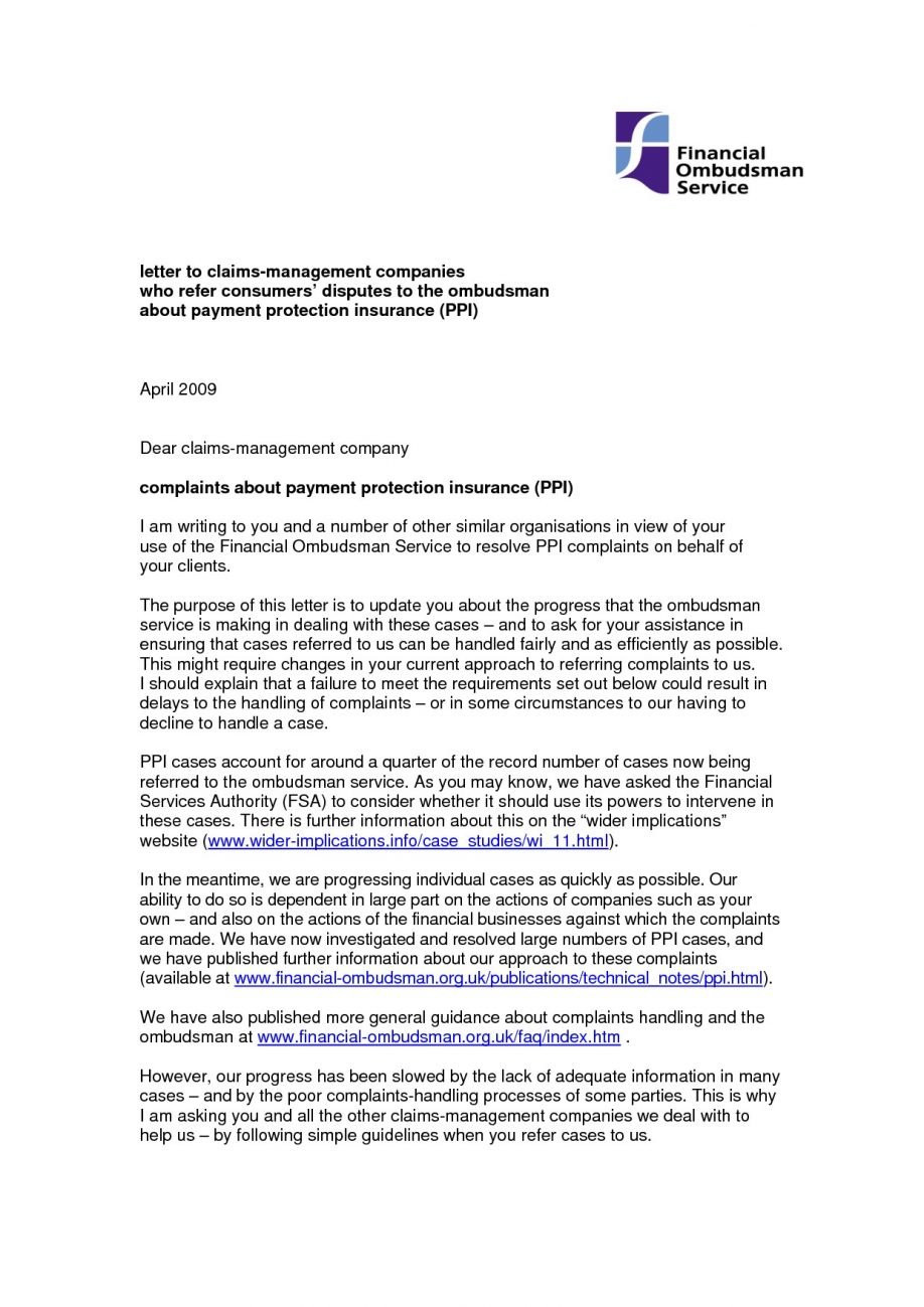 Sample Appeal Letter For Health Insurance Denial Letter Inside Ppi