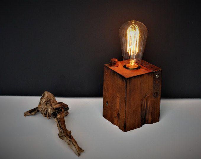 Lampe de table de bureau ou de chevet originale déco rouillée et