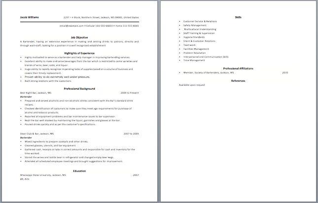 28 bartender resumes sles enernovva org News to Go 2 Pinterest - new libre office resume template