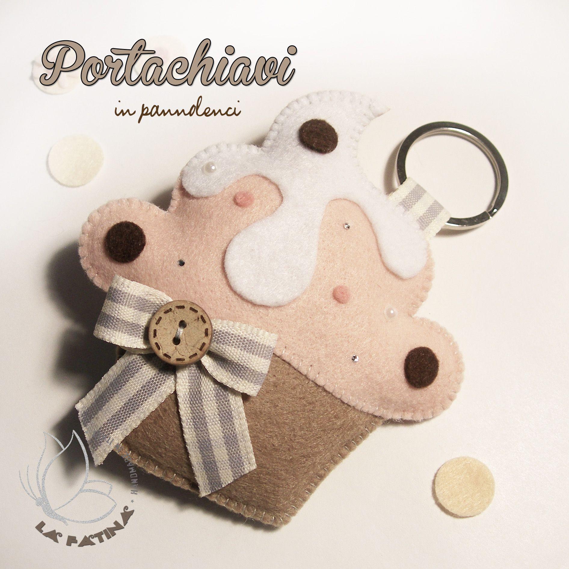 Portachiavi in pannolenci a forma di cupcake decore for Portachiavi pannolenci