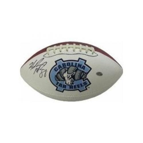 Hakeem Nicks Autographed UNC Tar Heels Logo Football - Sports Memorabilia