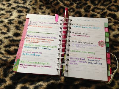 how to use a planner to stay organized
