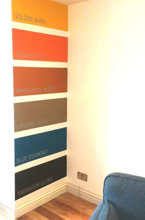 This guy painted one wall in his house like a paint sample chart - sample chart