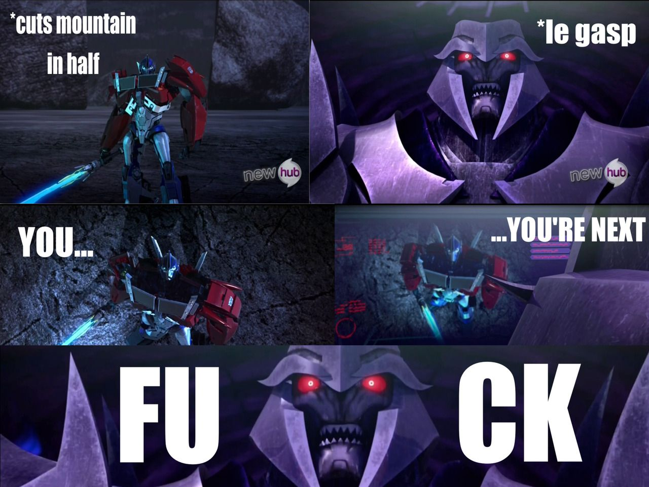 transformers prime meet megatron pics