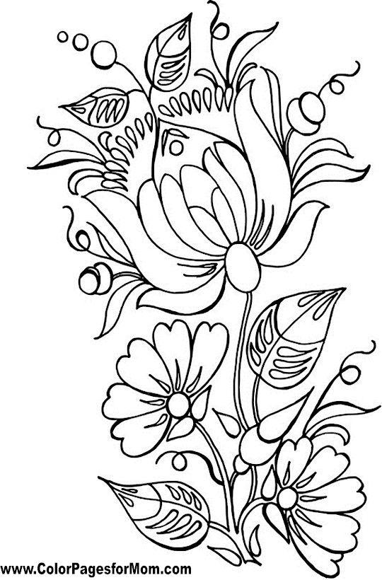 Flor para colorear Flor 86 | Dibujos | Pinterest | Bordado, Colores ...