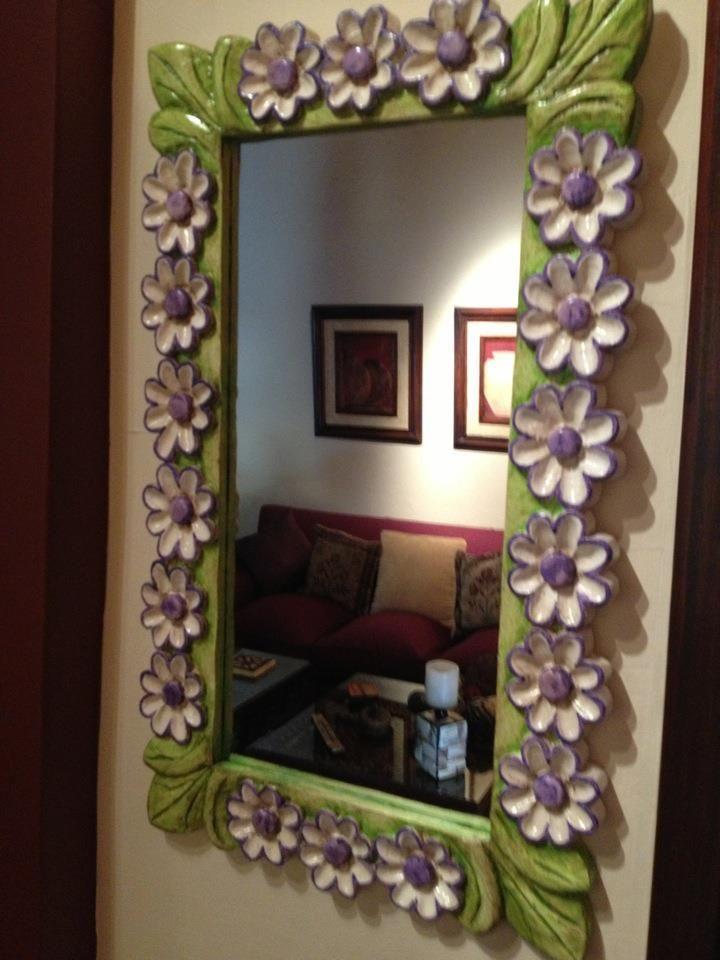 Talla en madera de cedro policromado espejos tallados for Espejos tallados