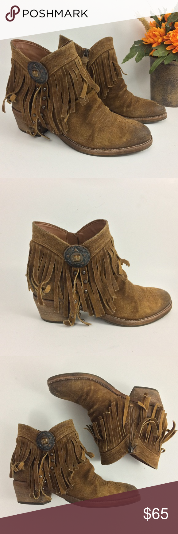 ae1b30a4a SAM EDELMAN ~Sidney~ Brown Fringe Bootie Size 6 Ankle boots from Sam Edelman  Side zipper Excellent condition Sam Edelman Shoes Ankle Boots   Booties