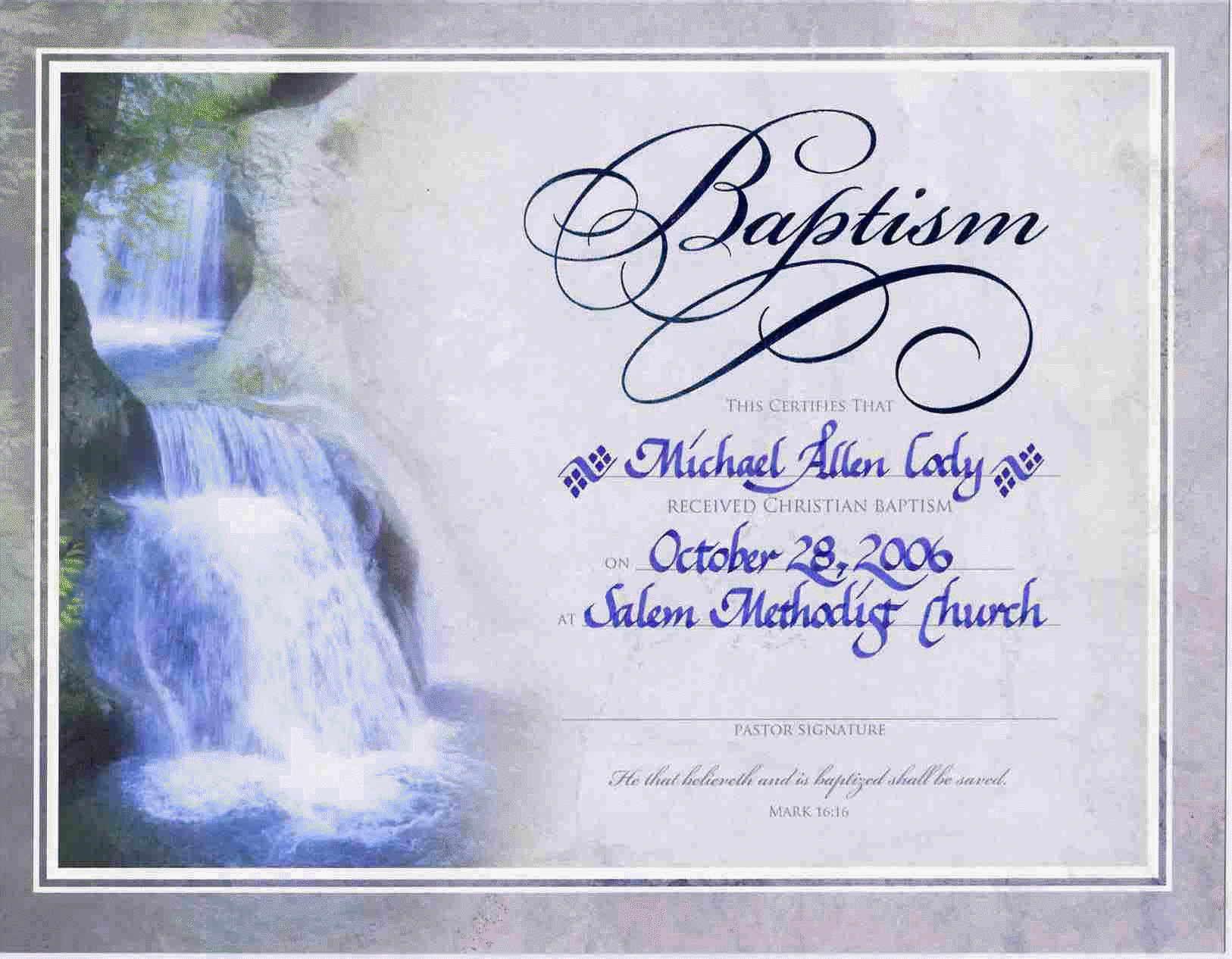 Water Baptism Certificate Templateencephaloscom Encephaloscom Baptism