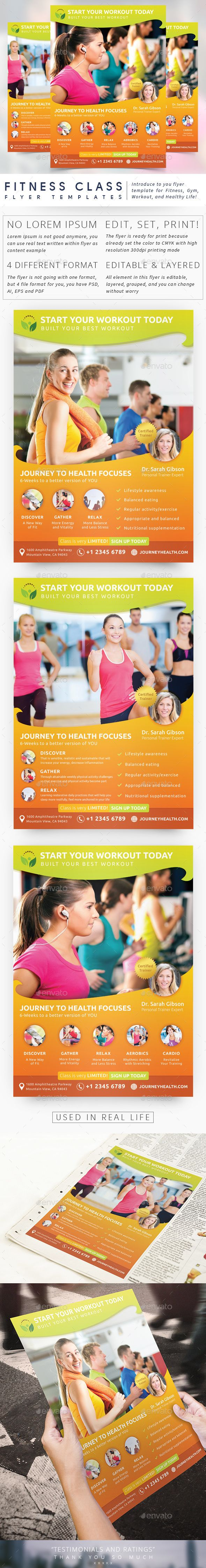 Fitness Class Flyer Pinterest Event flyers Flyer printing and