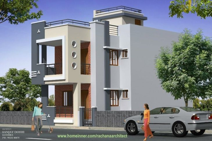 Low Cost House Design By Rachana Architect