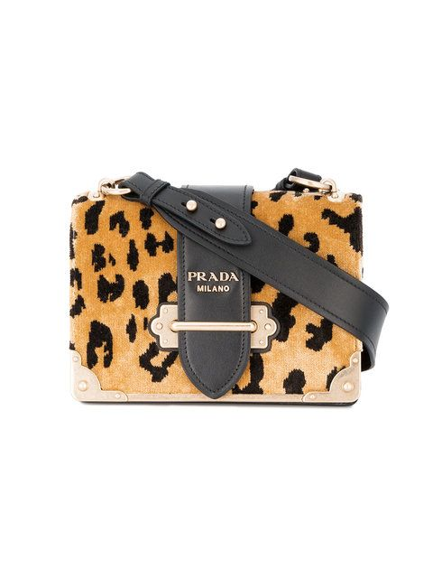 f007531fb7e922 Shop Prada Cahier leopard print velvet bag | clothes, jewels, shoes ...