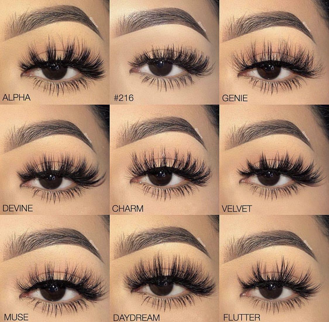 Eyelashes styles  Lashes makeup, Skin makeup, Makeup