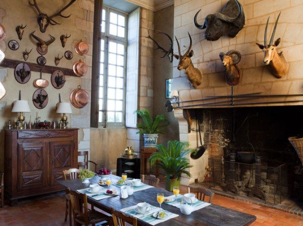 Decorating With Deer Mounts For A French Chateau Look House