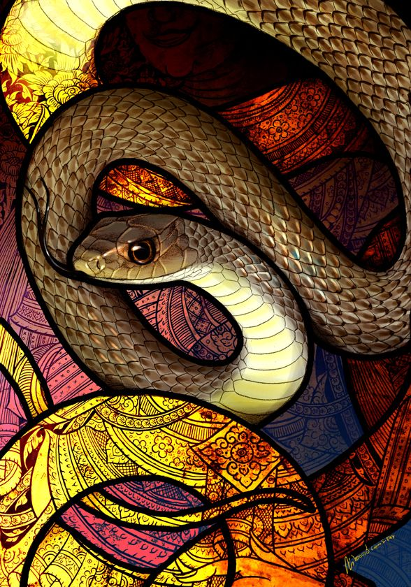 Indo-Chinese Rat Snake by Culpeo-Fox deviantart com on