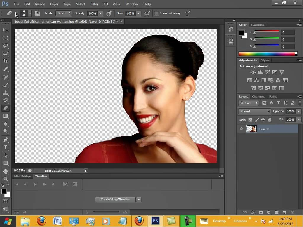 Adobe CS5 How To Remove The Background Of An