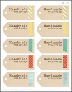 picture relating to Diy Gift Tags Free Printable titled 75 Absolutely free Printable Labels Create it Home made Tags Labels