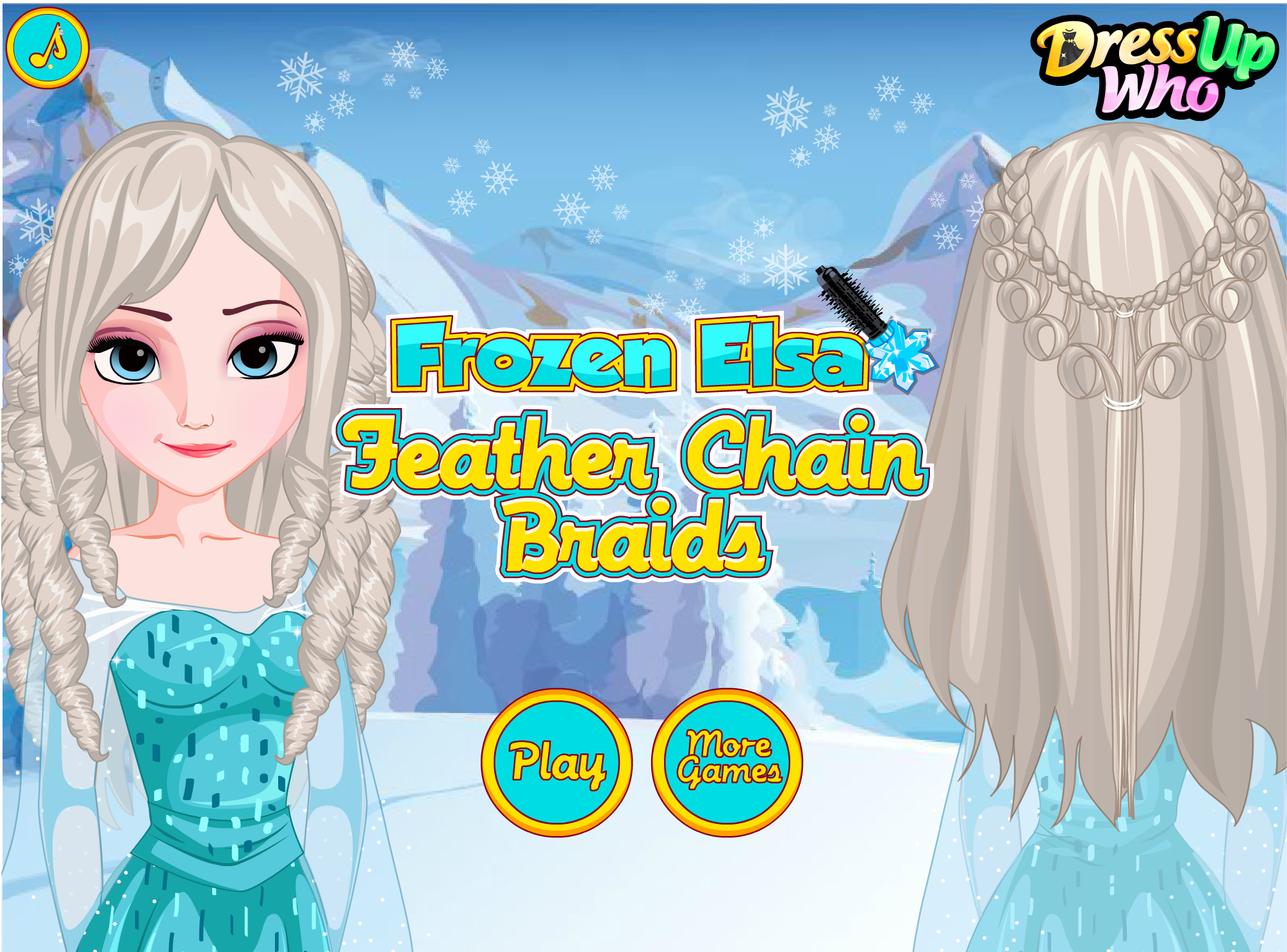 Frozen Elsa Feather Chain Braids! #frozen #elsa #hairstyles #hair