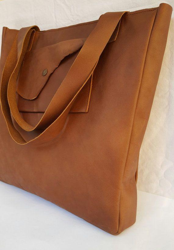 Tote borsa marrone di itines su Etsy