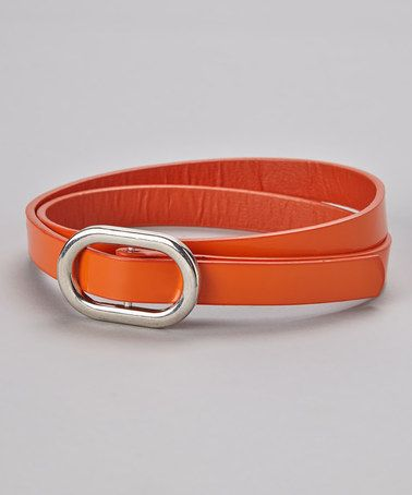 Take a look at this Orange Skinny Belt by Delightfully Preppy Kids on #zulily today!