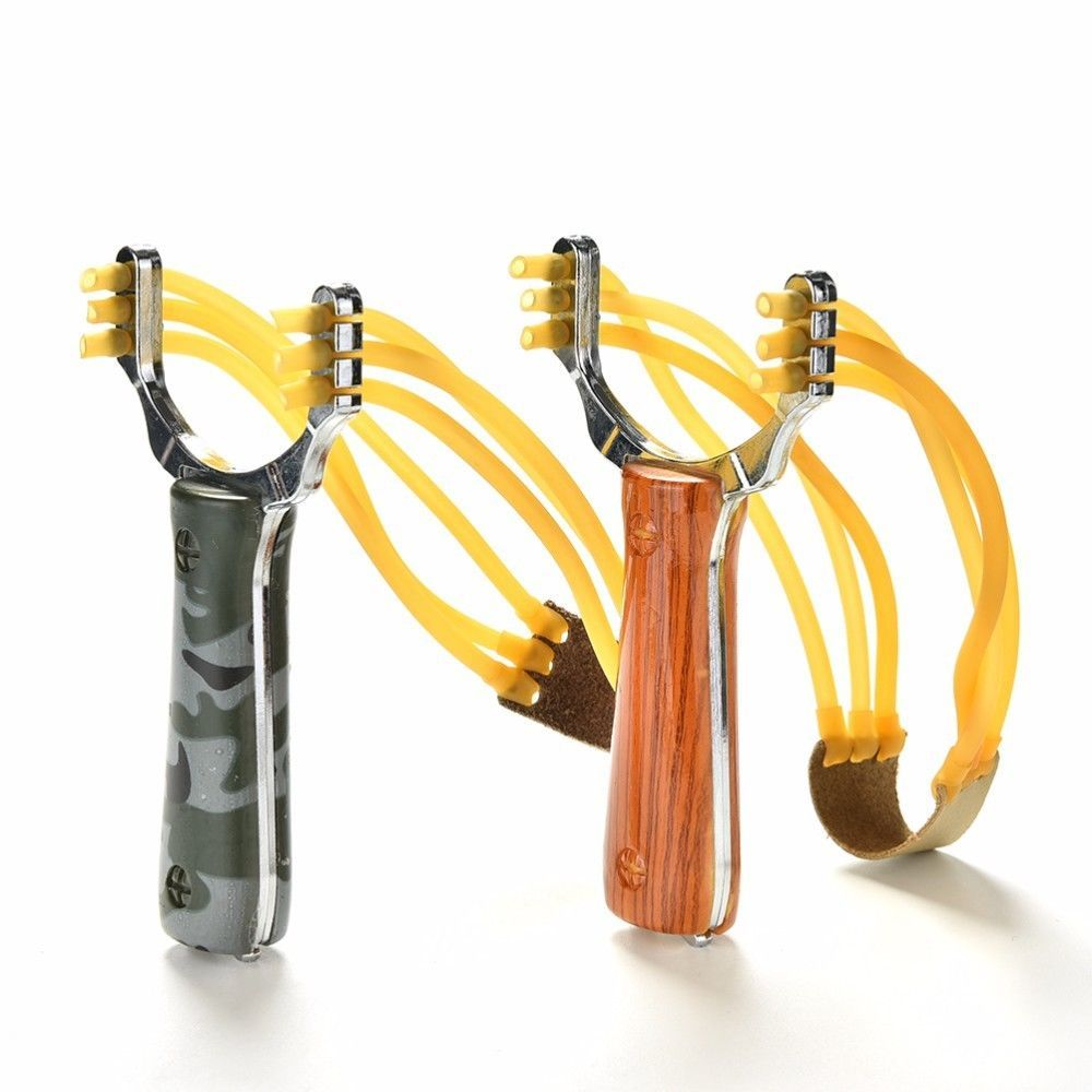 Outdoor Powerful Rubber Band Catapult Slingshot Sling Shot Hunting Game Tool sde