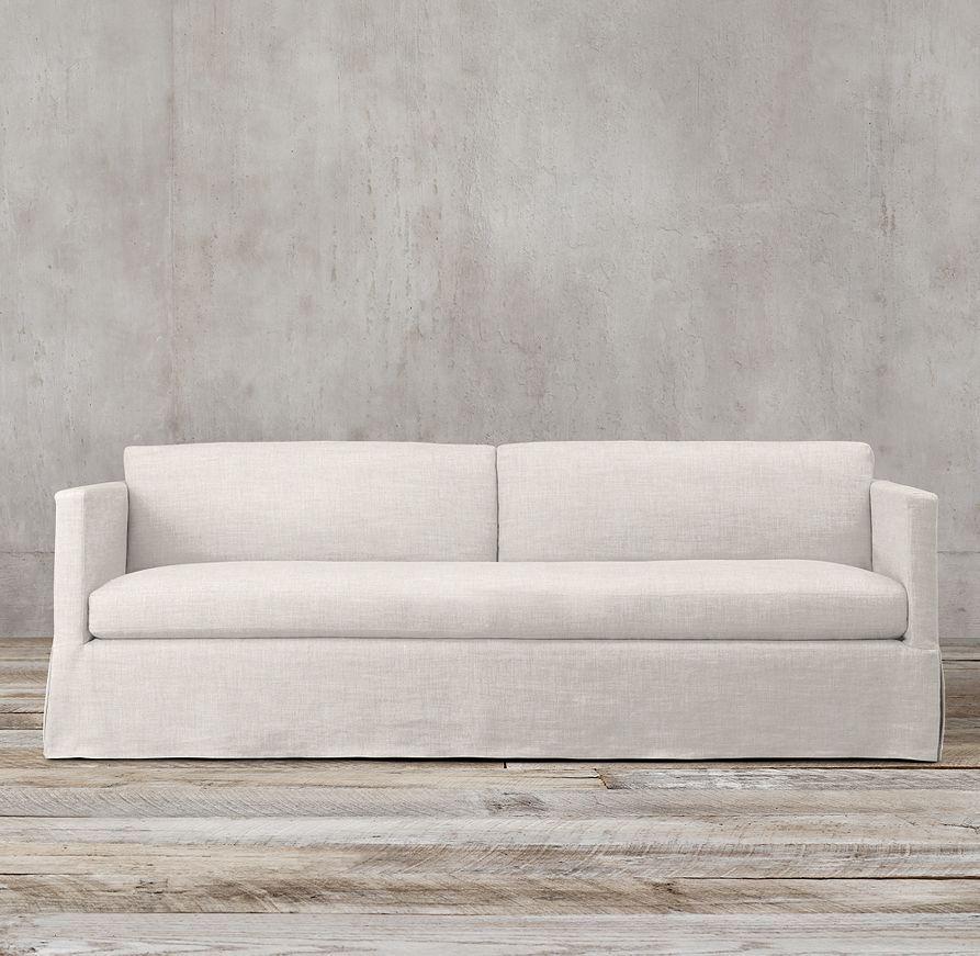 Best 7 Belgian Classic Shelter Arm Slipcovered Sofa 400 x 300