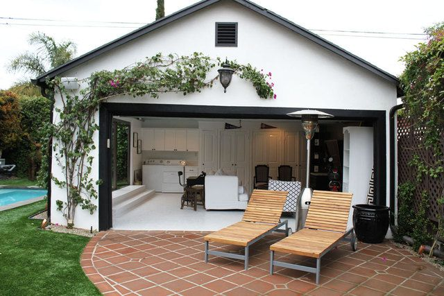 Can 39 t wait to order our garage doors in order to do this for Garage pool house