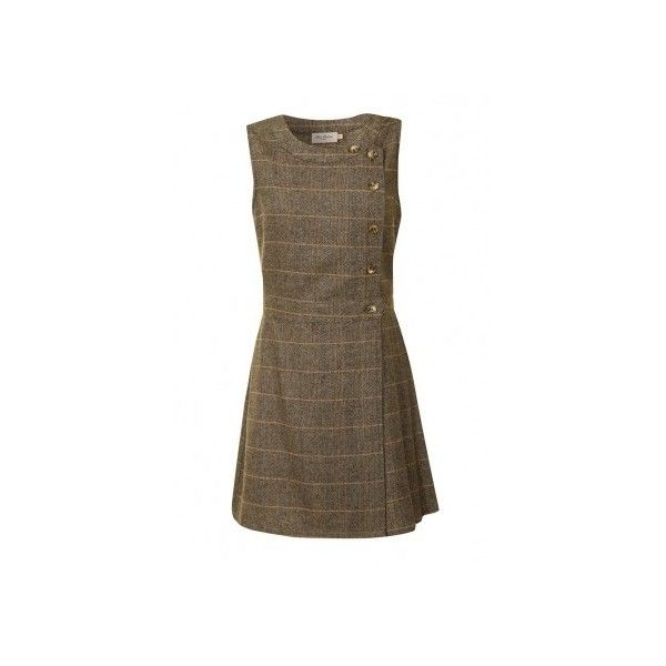 Primrose Pinafore (Tweed Plaid) ($72) ❤ liked on Polyvore