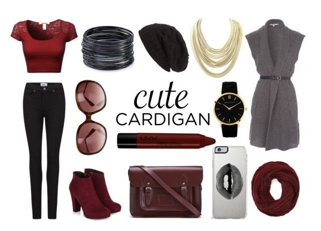 """""""Cute Cardigan!"""" by zaza2000 ❤ liked on Polyvore featuring Paige Denim, Forever 21, David & Young, NYX, The Cambridge Satchel Company, Lipsy, Oliver Peoples, Kendra Scott, ABS by Allen Schwartz and Larsson & Jennings"""